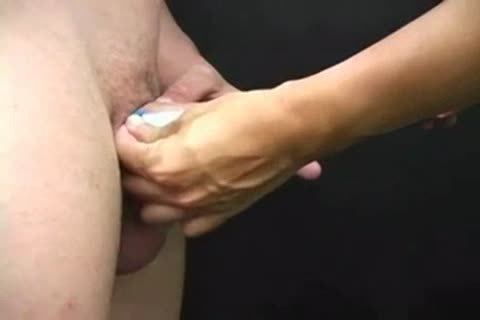 Pale twink knob and Balls pleasure