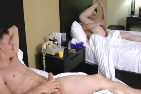 Two straight buddies jerking off