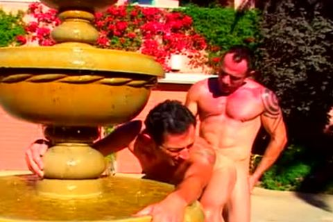 Dick on dick at the fountain