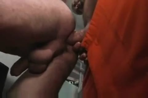 TWO pretty HUNG PRISONERS use youthful LAD raw