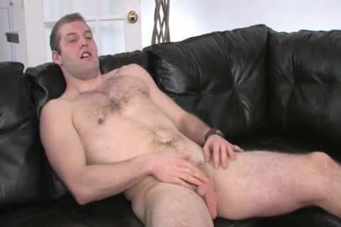 hairy Chested man Beating howdys dong