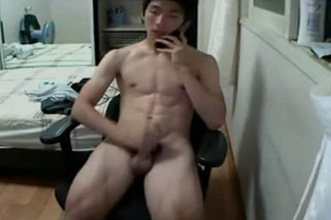 Korean twink Jacks Off