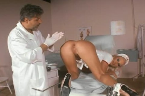 Smoking gorgeous nurse butt-team-drilled