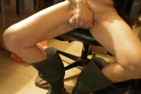 Nlboots - Green Boots, jerking off, Smoking And