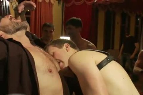 bound gay To A Cross gets weenie Teased