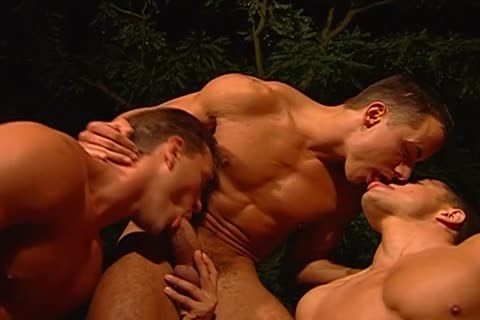 Steamy homosexual outdoors Three-some Goes dirty