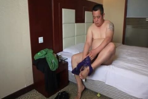asian daddy Bear Shows Off nasty Body And cums Like Fountain