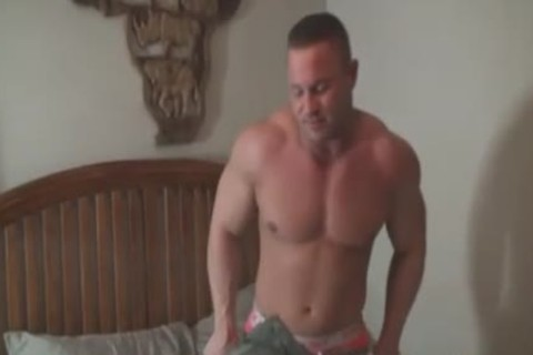beefy stud In Handcuffs receives Tickled