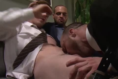 OFFICE man gets double penetration