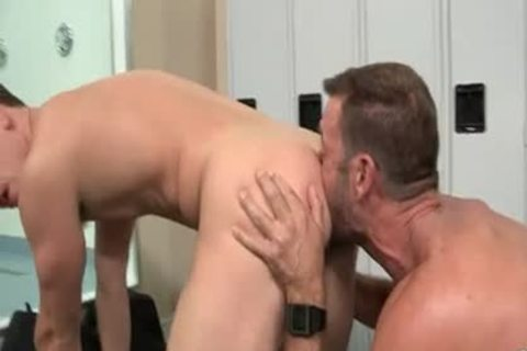 hairy Muscle dad And boy