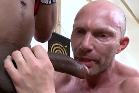 Bald White Muscle Hunk gets Shafted By BBC