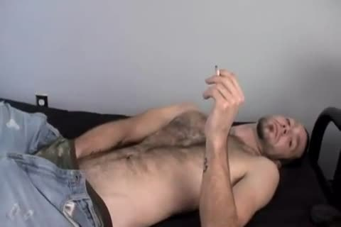 nasty Smoking Alternative dude Wirh curly Armpit