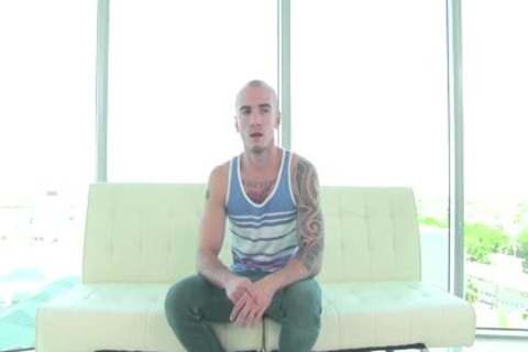 gayCastings Tatted Muscle wang Wants To Break Into Porn