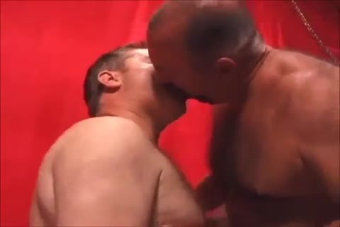 Two sleazy daddies plowing