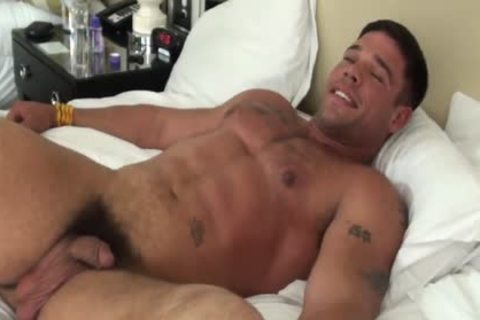 attractive Muscle guy tied And Tickled - Derek Atlas