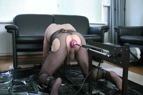 tied Up In My doggy style Stockade Being poked By A Machine