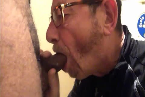 Daddy Meets A ribald 18yo Bull On CraigsList.  They Meet In The Hotel's baths Where Daddy Sucks Then gets poked.  Finishes Off His Hung playgirl Swall