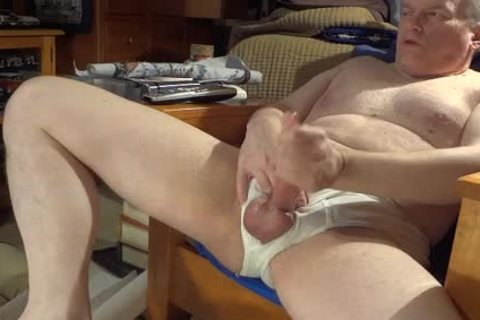 stroking In White Briefs With nice ejaculation
