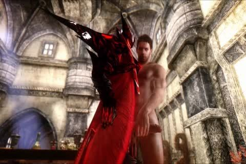 Dante peculiar. With Demon, Virgil, James Vega And Chris Redfield