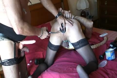 Motherfucker  On The Marital bed And Then Fisted dildo With A throbbing dildo