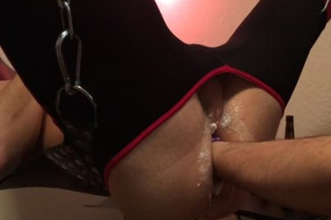 In The Sling And Ready To acquire Worked Over, that dude acquire's Stretched And Fisted In Preparation For The Next clip When The bigger wazoo Plugs C