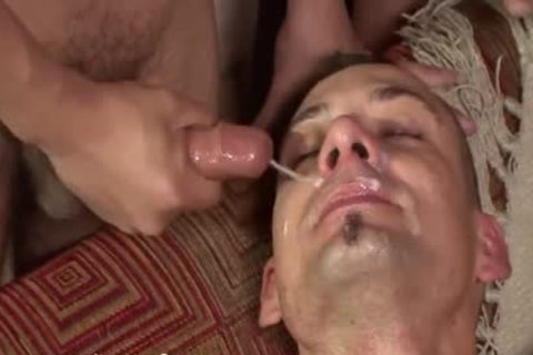 young Bukkake whore receives His dark hole Filled With guy penis