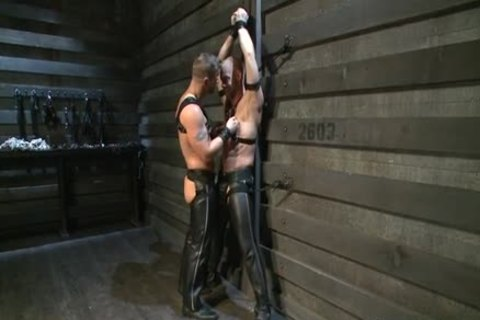 Hung White man In Leather gets Off homo chap