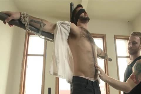sadomasochism - delicious hairy stud receives tied Up And Edged.