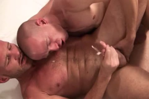 Two homosexual Bald guys have a fun Sodomy jointly