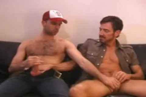 men On couch