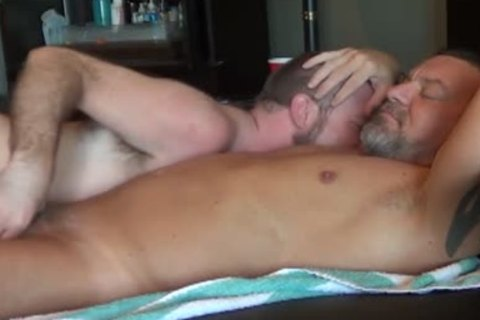 Worshiping Daddy's thick wang