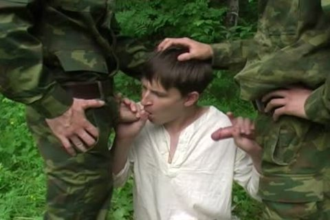 Two Military studs get bj From A juvenile teen