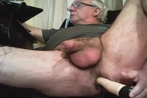 grandpa Play With A sextoy And sperm On web camera