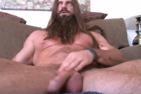 long Haired And Bearded Muscle guy Solo