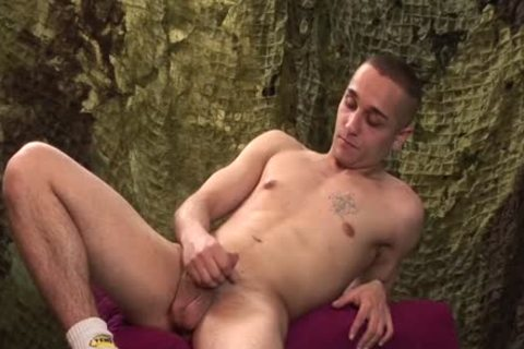 delicious guy Likes To jerk his cock Softly