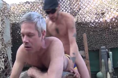 Blond chap acquires His wazoo Rimmed And hammered Outside doggy style