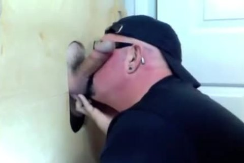 Gloryhole suck Off Of Curious Married lad