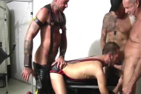 Foursome bare Sling plowing Spit Roast