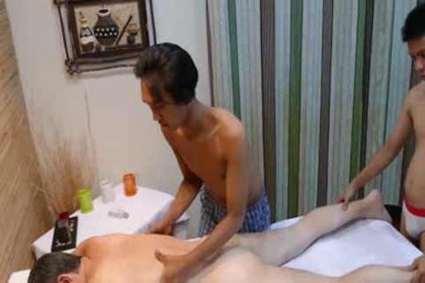 wild man receives drilled By Two oriental boyz After cute Massage