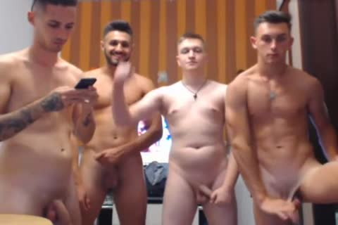 4 naughty Romanian dudes, Hard knobs & naughty asses