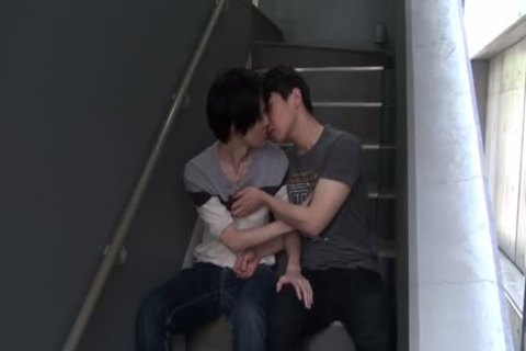 Japanese twink Facialized Sex