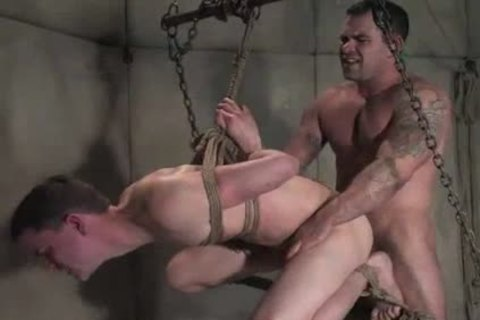 tied Up In Cell man ass pounded
