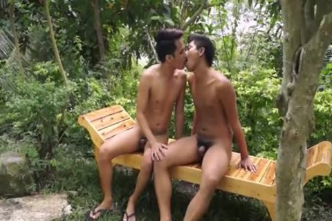 Two concupiscent twinks joy In The Middle Of The Jungle