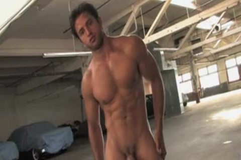 guy BLOWZ LOaD ON PARKING GARAGE FLOOR ! ! !