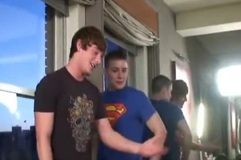 Brent Corrigan gets Double Dicked By filthy teens
