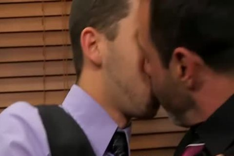Mike Manchester And Tony Hunter Enjoying ass In The Office