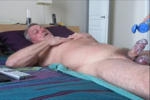Stroking And engulfing another hot-Waxed Wad From Farmer K.