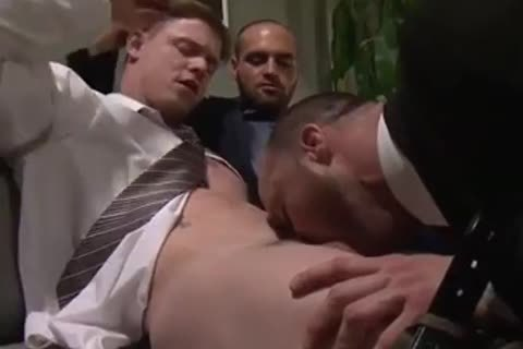 Office bare threesome