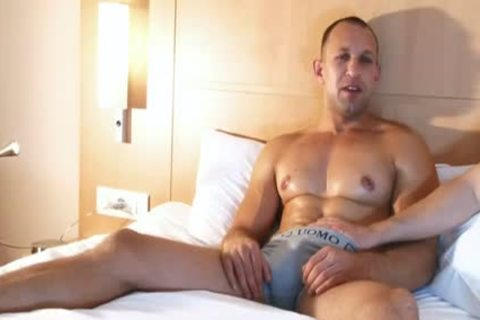 muscular Male acquires Filmed Hard In His Hotel Room In Spite Of Him !