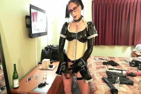 wild Latex Sissy Maid